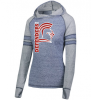 L1 - Ladies Advocate Hooded Sweatshirt - Navy Silver Denver Christian