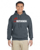 H - Dark Heather Hooded Sweatshirt Denver Christian
