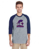 G - Raglan T-shirt Grey and Navy Denver Christian