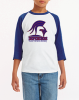 F - Raglan T-shirt White and Royal Denver Christian