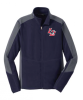L230 - Women's Navy/Grey Micro Fleece Jacket Lincoln Charter School