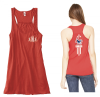 10 -  B8800 Bella+Canvas Ladies Flowy Racerback Tank - Red Lincoln Charter School