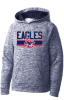 YST225 - Youth Poly Fleece Heathered Hoodies Lincoln Charter School