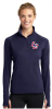 LST850 - Sport-Tek® Ladies Sport-Wick® Stretch 1/2-Zip Pullover-True Navy Lincoln Charter School