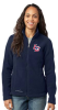 EB201-Eddie Bauer® - Ladies Full-Zip Fleece Jacket-River Blue Lincoln Charter School