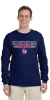 G240B-G200 - Navy Regular Cotton Tee Long Sleeve - YOUTH - ADULT  Lincoln Charter School