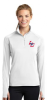 LST850 - Sport-Tek® Ladies Sport-Wick® Stretch 1/2-Zip Pullover - White Lincoln Charter School