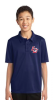 Y540 - Navy Youth 100% Poly  Polo Shirt Lightweight Lincoln Charter School