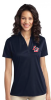 L540 - Ladies Navy 100% Poly  Polo Shirt Lightweight Lincoln Charter School