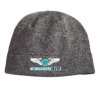 Port Authority® Heathered Knit Beanie. Grey Heather/Black MedCenter Air