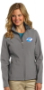 L317 - Ladies Soft Shell Jacket - Deep Smoke NC Society for Respiratory Care
