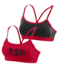 2416 Girls Augusta Sport Bra - Red/Black Rhonda's School of Dance