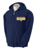 G186 - Adult & Youth Zip-Up Sweatshirt - Navy River Oaks Academy