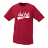 790 - Adult Wicking T-Shirt - Black or Red - Design B Softball