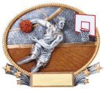 3D Oval Basketball M 3D Oval Resin Trophy Awards