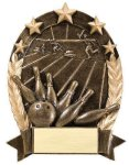5 Star Oval Bowling Generic 5 Star Oval Resin Trophy Awards