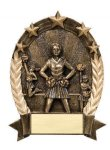 5 Star Oval  Cheerleader 5 Star Oval Resin Trophy Awards