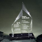 Peak Performance Double Tower on Genuine Marble Base Achievement Awards