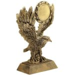 Eagle W/ 2 Ins Holder Resin Achievement Awards