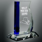 Blue Wave Glass Award Achievement Awards