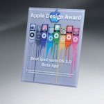 Thick Lucite Wall Plaque with Custom Digi-Color Achievement Awards