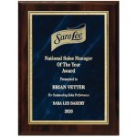 Blue Marble Florentine Plate on Walnut Finish Board Achievement Awards