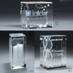 3D Etched Crystal Tower Achievement Awards