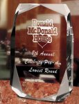 Square Multi-Faceted Clear Acrylic Award Achievement Awards