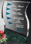 Rio Verde Blue Optical Crystal Awards