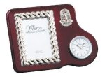 Mahogany Photo Frame With Clock Boss Gift Awards