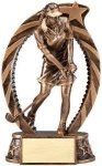 Bronze and Gold Golf , Female Award Bronze and Gold Star Resin Trophy Awards