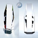 Octagon-Clear/ Color Crystal Glass Awards