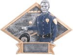 Law Enforcement Diamond Plate Resin  Diamond Awards