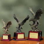 Eagle on Piano Finish Base Eagle Resin Trophy Awards