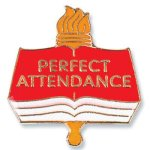 Perfect Attendance Lapel Pin Education Trophy Awards