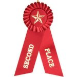 2nd Place Rosette Ribbon Education Trophy Awards