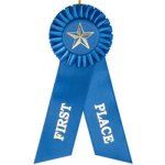 1st Place Rosette Ribbon Education Trophy Awards