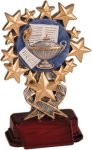 Lamp of Learning - Starburst Resin Trophy Education Trophy Awards