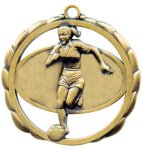 Soccer (Female) Medal Elegantly Sculpted Medal Awards