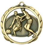 Basketball (Male) Medal Elegantly Sculpted Medal Awards