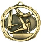Gymnastics (Male) Medal Elegantly Sculpted Medal Awards