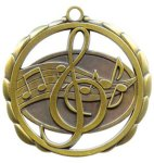 Music Medal Elegantly Sculpted Medal Awards