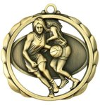 Basketball (Female) Medal Elegantly Sculpted Medal Awards