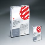 Magnetic Entrapment with Lasered Clear Front  and Clear Back Lucite Employee Awards