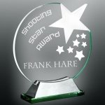 Halo Star Glass Award Employee Awards