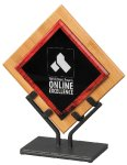 Acrylic Art Galaxy Award - Red Employee Awards