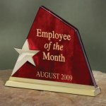 Wood with Star Summit Employee Awards