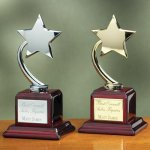 Shooting Star on Piano Finish Base Employee Awards