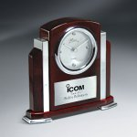 Rosewood Piano Finish and Aluminum Clock Employee Awards