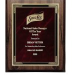 Walnut Finish Plaque with Marble Mist Employee Awards